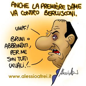 Carla Bruni e Berlusconi