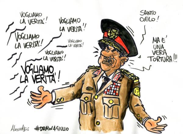#Draw4Giulio Verità per Giulio Regeni