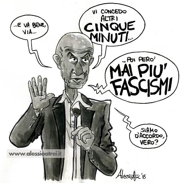 Minniti caricature vignette fascismo macerata casapound traini razzismo