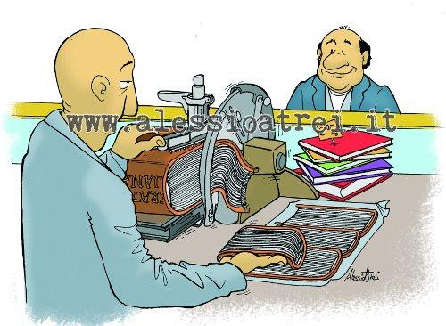 libri libraio letteratura books bookseller humor cartoon