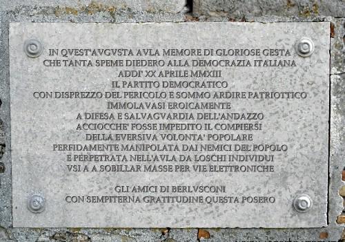 Lapide commemorativa Partito Democratico