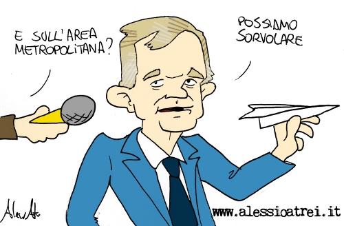 Enrico Rossi Caricature Peretola pista parallela regione toscana area metropolitana parco della piana firenze prato pistoia