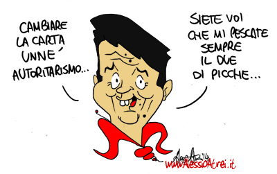Matteo Renzi Carta autoristarismo riforme