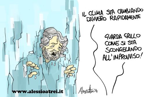 Beppe Grillo scongelato M5S