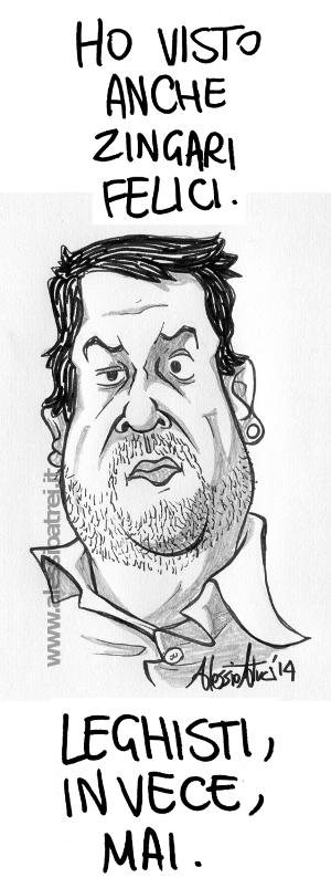 Caricature Matteo Salvini Vignette Rom zingari Lega Nord