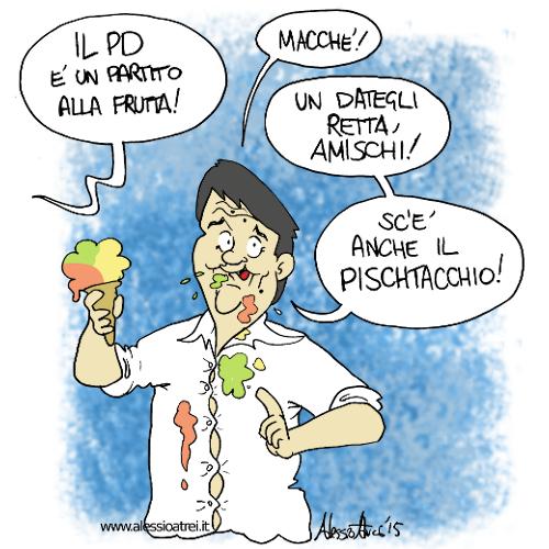 Cofferati PD alla frutta gelato renzi