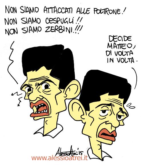 Maurizio Lupi NCD Caricature vignette