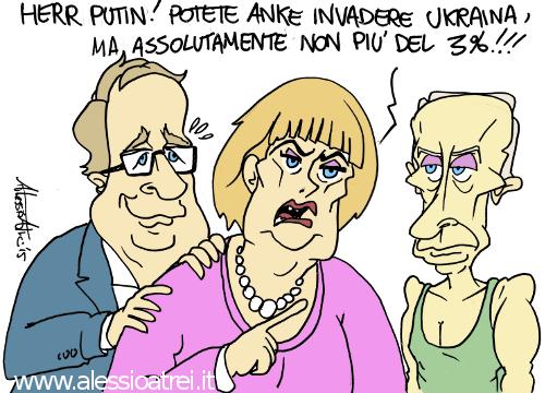 Merkel Hollande Putin Ucraina Crisi Guerra UE Russia