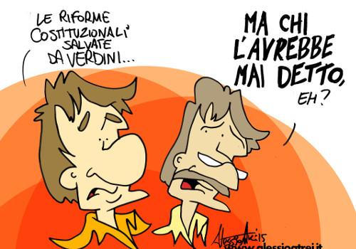 vignette Riforma Senato Denis Verdini padre costituente