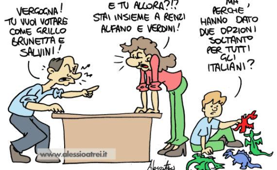 referendum costituzionale vignette #iovotono #bastaunsi