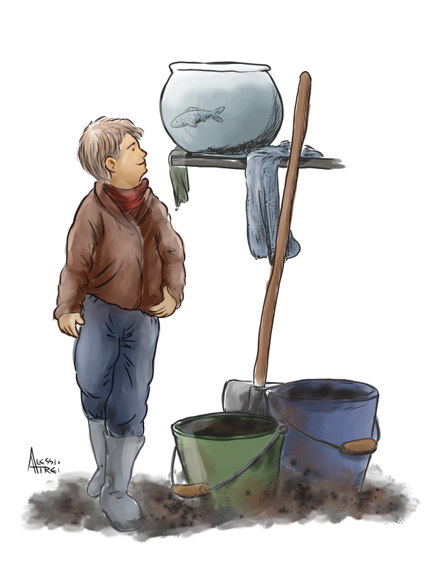 illustrazione racconto di Natale 2020 Elena Giannarelli su Toscanaoggi