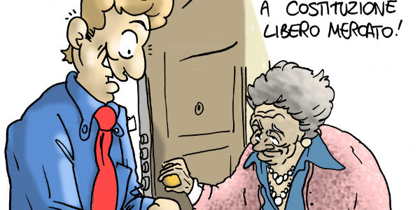 referendum costituzionale costituzione vignette satira libero mercato #iovotono iovotono #bastaunsi bastaunsi