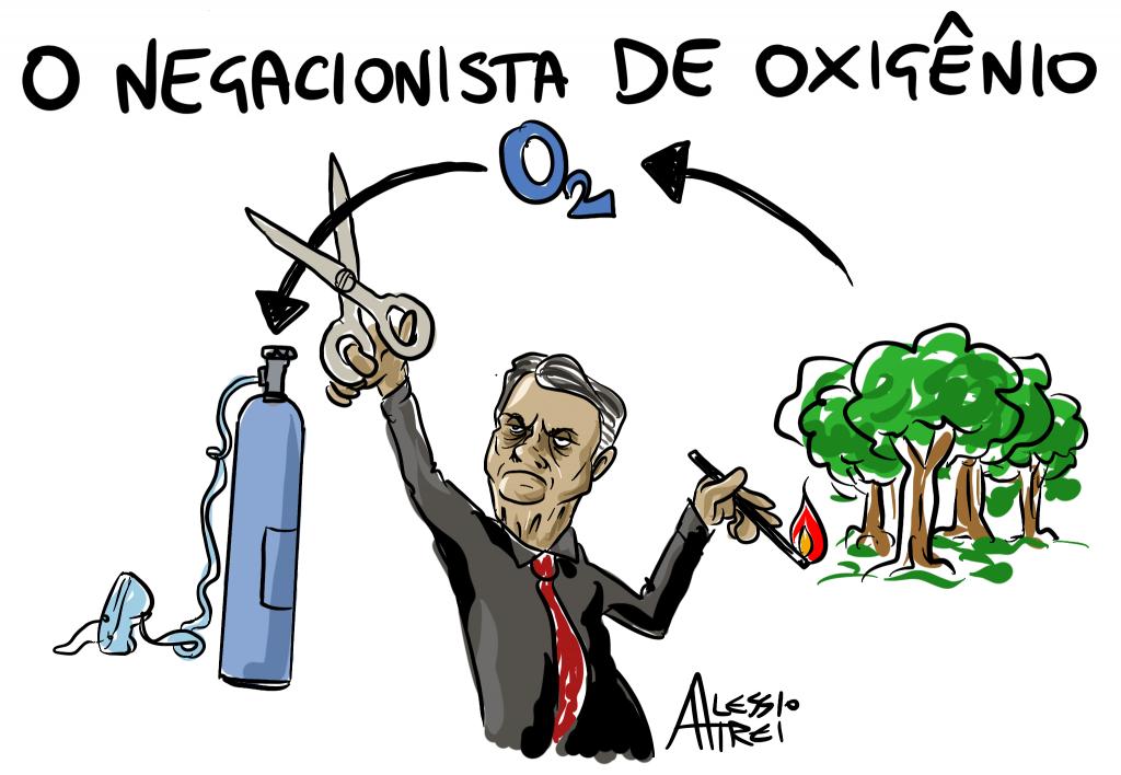 O2Brasil Bolsonaro negacionista de oxigenio