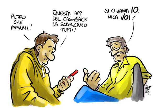 Cashback app IO immuni
