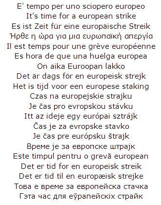 E' tempo per uno sciopero europeo
