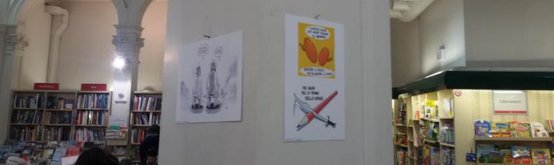 Charlie Hebdo Feltrinelli Firenze