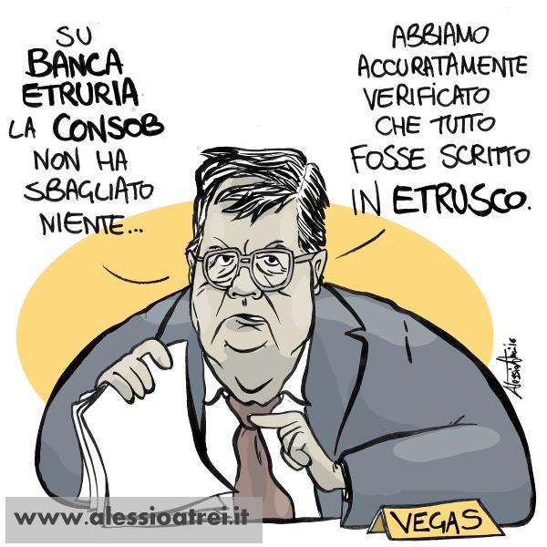 Giuseppe Vegas caricature consob Banca Etruria vigilanza banche