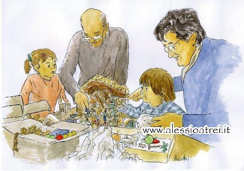 avvento, natale, attesa, bambini, nonni
