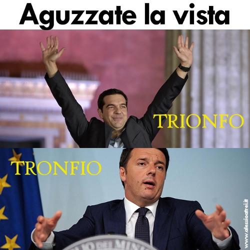 Renzi tsipras sottili differenze