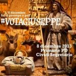 Vota Giuseppe. Dal presepe al #congressopd