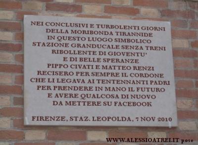 matteo renzi giuseppe civati stazione leopolda firenze prossima fermata italia
