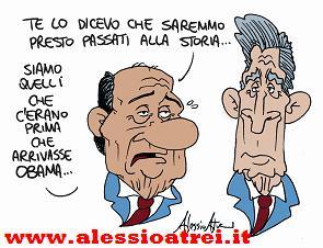 Bush e Berlusconi dopo Obama